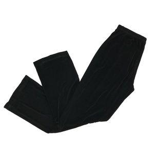 Chicos Travelers Wide Leg Elastic Waist Pants Sz 8